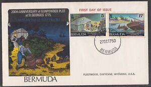 BERMUDA 1975 FIRST DAY COVER GUNPOWDER PLOT AMERICAN BICENTENNIAL