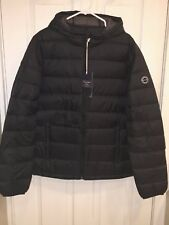 2017 Abercrombie & Fitch LIGHTWEIGHT DOWN PACKABLE HOODED PUFFER JACKET Black L