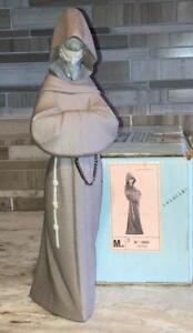 "Lladro FRANCISCAN MONK #2060 Matte Figurine Mint Condition in original box 13.5"""