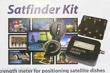 KONIG SATFINDER Kit, Satélite Alineación metros, BRÚJULA, pack de pilas & Cable
