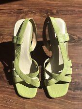 Worthington Green Slingback Leather Sandles Womens Size 7