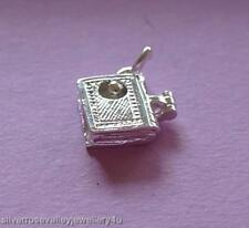 Bookworm in Book (Opens&Closes) Charm  STERLING SILVER