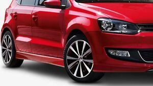 NEW GENUINE VW POLO 6R ACCESSORY BODY KIT SIDE SKIRTS SET