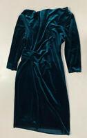 Jessica Howard Womens Forest Green Ruched Side Zip Cowl Neck Party Dress Sz 6