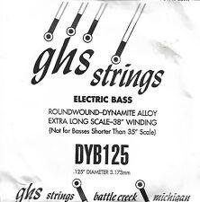 Corde basse 1 corde GHS-DYB125 - à l'Unité - Roundwound Dynamite Alloy