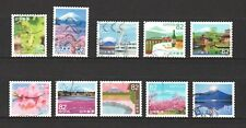 JAPAN 2018 MY JOURNEY SERIES NO. 3 (MT. FUJI) 82 YEN COMP. SET OF 10 STAMPS USED