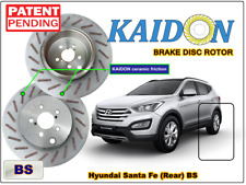 "Hyundai Santa Fe brake disc rotor KAIDON (Rear) type ""BS"" / ""RS"" spec"
