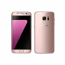 New Samsung Galaxy S7 Edge 32GB Pink Gold Mobile Phone Unlocked SIM Free