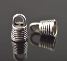 15pcs Golden End Caps Bead Stopper fit 6mm Cord Bracelet Necklace Handcrafts