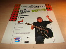 PAUL MC CARTNEY - WORLD TOUR!!!!!!!!FRENCH PRESS ADVERT
