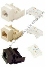 Lot100 Keystone RJ11/RJ12 tooless Jack Phone/Telephone for 6/4wire 6P6C/4C