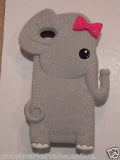 Bath & Body works Grey Elegant elephant Iphone 4 4S Cover easy to grip Case NEW