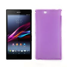 Soft Jelly TPU Gel iSkin Case Cover for Sony Xperia Z Ultra - Purple