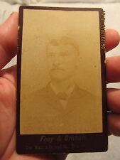 Vintage Cabinet Card Herman F. Patberg Evansville IN Calumet Auto Company
