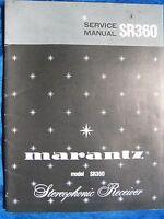 marantz sr8000 stereophonic receiver original service manual factory rh ebay com Parts Manual Downloadable Online Chevrolet Repair Manuals