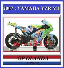 1/18 - ROSSI - YAMAHA YZR M1 - 2007 Assen - Die-cast [ Launch Fiat 500 Livery ]