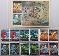 NEUSEELAND 2000 1814-19 Block 109 1629-34 LIMITED EDITION Year of the Dragon