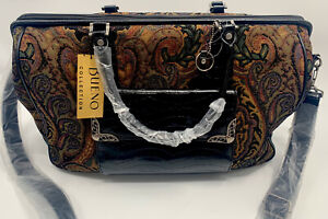 Bueno Collection Carry On Weekender Bag Brown Black Paisley New