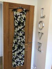 Gorgeous Whistles Ikat Print Waist Tie Silk Sleeveless Maxi Dress UK 8 Worn Once