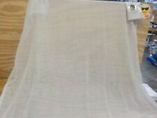 Crushed Voile 95-Inch Grommet Top Sheer Window Curtain Panel in Linen