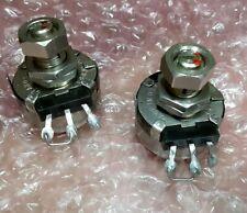 2 Clarostat Potentiometers 50k Variable Resistors Military Grade