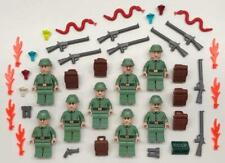 8 Lego Russian Army Soldiers Minifigs Lot: figures indiana jones guards green