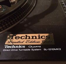 Technics cubierta Decal Sticker x2 Edición Limitada