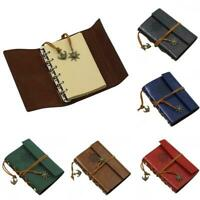 Retro Vintage PU Leather Cover Notebook Travel Journal Diary Diary Jotter Books
