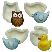 Silicone Moulds - Set Of Four Birds - Owl - Love Birds - Duck - Food Safe