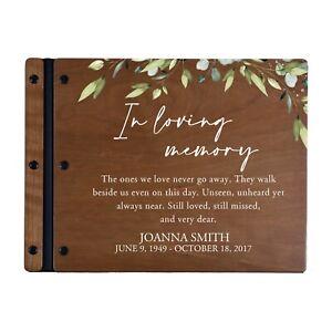 Custom Engraved Modern Memorial Funeral Guestbook - In Loving Memory