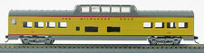 HO 72 Ft Pass. Mid Train Dome Car , RTR Milwaukee Road (UP Yellow/Gray) (1-949)