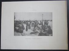 1896 EMIGRANTS ON L'BOARDING Angiolo Tommasi photo etching Sambuy Triennale