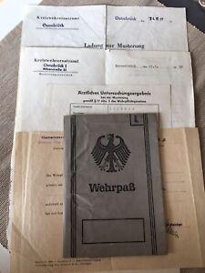 Frühe Bundeswehr Wehrpass Selten Nur 32 Seiten Selten und Dokumente 1957/58