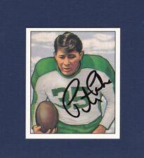 Pete Pihos signed Philadelphia Eagles 1950 Bowman reprint football card
