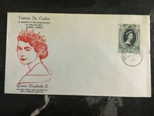 1953 Tristan Da Cunha First Day Cover QE II Queen Elizabeth coronation FDC