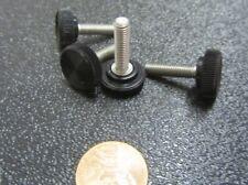 "Plastic Black Stainless Thumb Screw, 5/8"" Head Dia. x 10-32 x 3/4"" Length, 25 Pc"