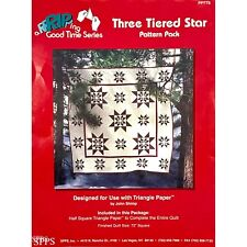 Three Tiered Star Quilt Pattern Pack with Foundation Paper by John Shrimp SPPS