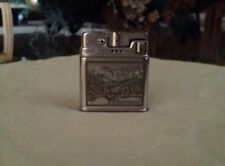 VTG German Rowenta Lighter Garmisch-Partenkirchen MIT Eibsee Ski Resort etched