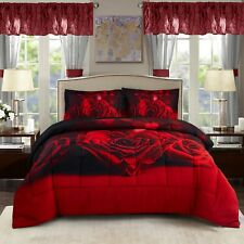 Hig 3 Piece New 3D Comforter Set Animals and Scenery Floral Print-Loveforever