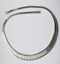 Designer Collier 835 Silber rhodiniert Vintage 70er collier silver