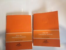 Hermes Eau de Mandarine Ambree Cologne UNISEX 2Sample Vial NEW