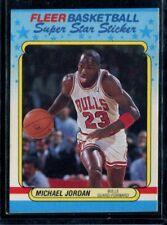 1987-88 Fleer Basketball #7 Michael Jordan Sticker Wax On Back LOOK!