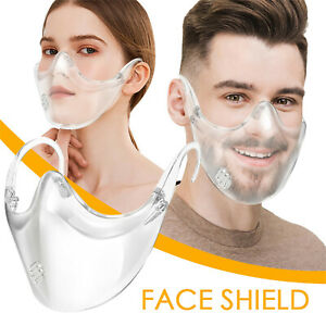 Transparent Face Mask with Valve Protective Mask Adjustable Reusable Fashion