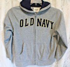 Old Navy M (8 ) zip-up Sweatshirt Hoodie Gray . Great Condition!!