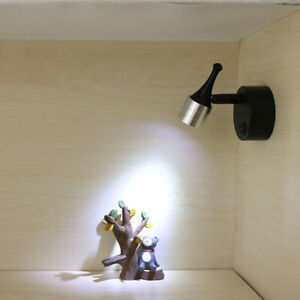 3W LED Picture Light Desk Portable Lamp Fixture Button Battery-Powered Spotlight