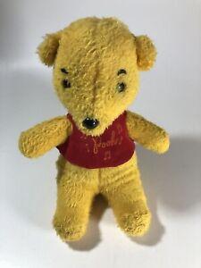 "Vintage Winnie The Pooh Walt Disney Wind-Up Musical Plush Toy Works 10"""