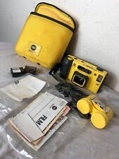 Minolta Weathermatic DUAL 35 Underwater Film Camera + Case Canister Waterproof