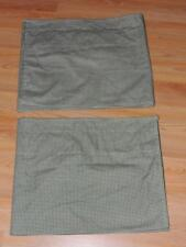 SET OF 2 WAVERLY COUNTRY FAIR SAGE BALLOON VALANCES 79X15 Green Gingham Check