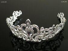 Prinzessin Braut Kristall Tiara Diademe Hochzeit Strass Krone Haarband