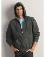 Men's Zip Full Hooded Sweatshirt Classic Fit Adult FLEECE First Quality S-5XL